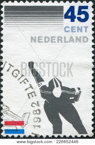 Netherlands - Circa 1982: A Stamp Printed In The Netherlands, Is Dedicated To The 100th Anniversary