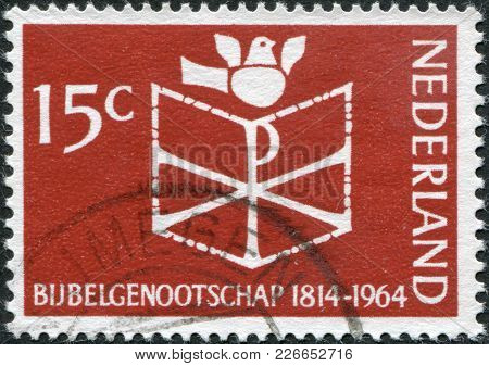 Netherlands - Circa 1964: A Stamp Printed In The Netherlands, Dedicated To The 150th Anniversary Of