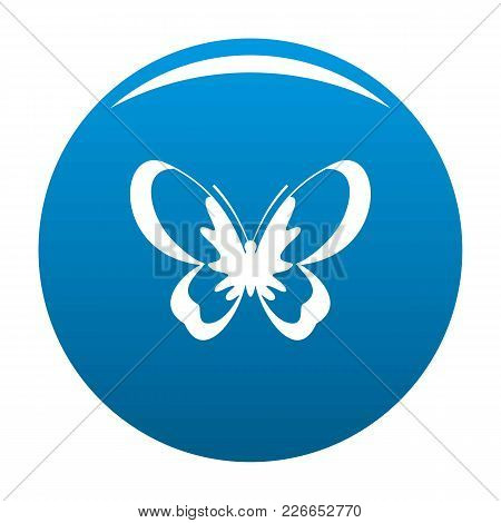 Unknown Butterfly Icon Vector Blue Circle Isolated On White Background