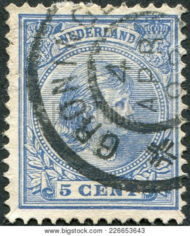 Netherlands - Circa 1894: A Stamp Printed In The Netherlands, Shows Princess Wilhelmina, In The Futu
