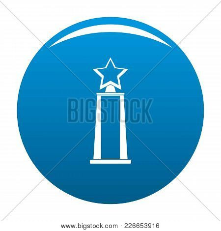 Star Award Icon Vector Blue Circle Isolated On White Background