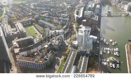 View From Above Of Düsseldorf In Germany