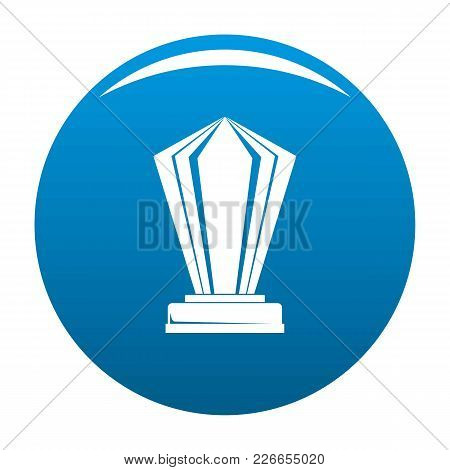 Award Icon Vector Blue Circle Isolated On White Background