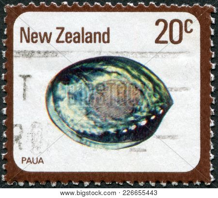 New Zealand - Circa 1978: A Stamp Printed In New Zealand, Shows The Molluscs Paua (haliotis Iris), C
