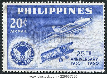 Philippines - Circa 1960: A Stamp Printed In The Philippines, Is Dedicated To The 25 Th Anniversary