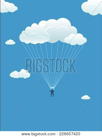 In Harmony With The Sky: The Parachutist Descends On The Cloud