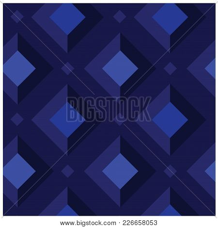 Geometric Shades And Light Squares Seamless Pattern. Design For Print, Fabric, Textile. Seamless Wal