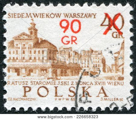 Poland - Circa 1965: A Stamp Printed In The Poland, Dedicated To The 700th Anniversary Of Warsaw, Sh