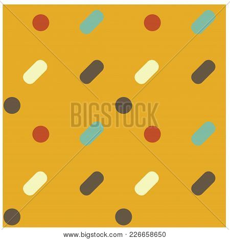 Simple And Round Friendly Seamless Pattern. Design For Print, Fabric, Textile. Seamless Wallpaper.