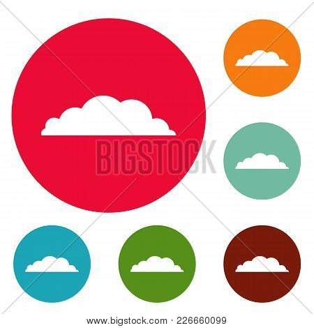 Climate Icons Circle Set Vector Isolated On White Background