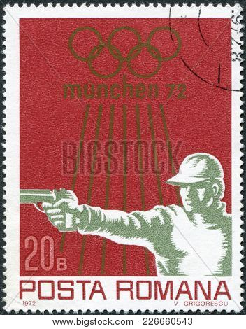 Romania - Circa 1972: A Stamp Printed In The Romania, Dedicated To The Summer Olympic Games In Munic