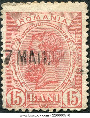 Romania - Circa 1893: A Stamp Printed In The Romania, Shows The King Of Romania, Carol I, Circa 1893