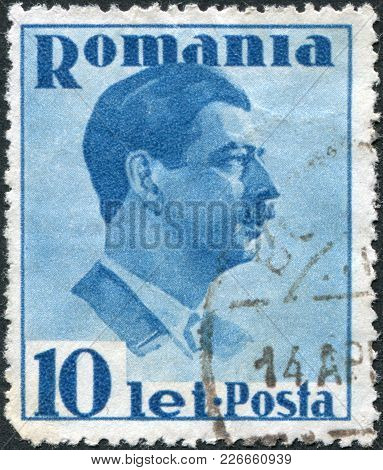 Romania - Circa 1936: A Stamp Printed In The Romania, Shows The King Of Romania, Carol Ii, Circa 193