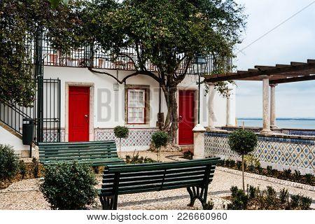 Observation Deck Miradouro de Santa Luzia, Lisbon, Portugal