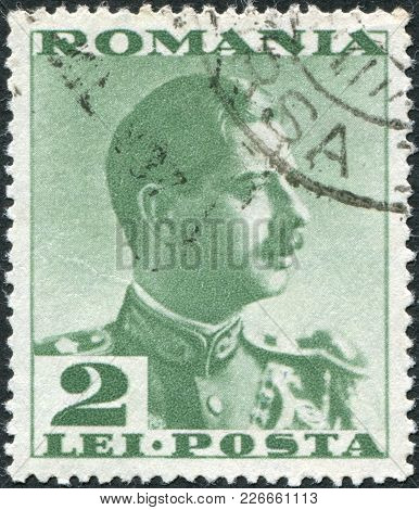Romania - Circa 1935: A Stamp Printed In The Romania, Shows The King Of Romania, Carol Ii, Circa 193