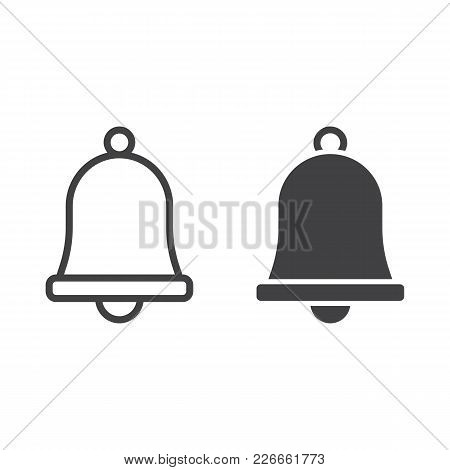 Easter Bell Line And Glyph Icon, Easter And Holiday, Jingle Sign Vector Graphics, A Linear Pattern O