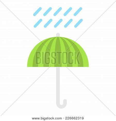 Umbrella Symbol Flat Icon, Logistic And Delivery, Keep Away From Water Sign Vector Graphics, A Color