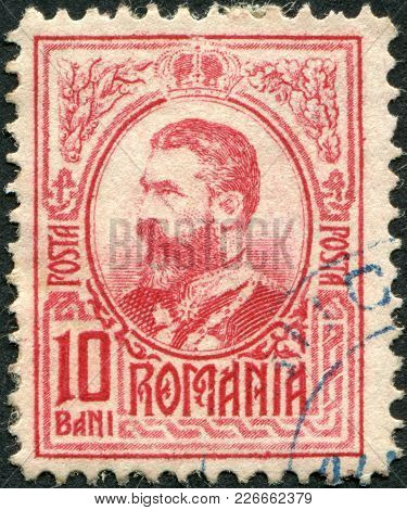 Romania - Circa 1908: A Stamp Printed In The Romania, Shows The King Of Romania, Carol I, Circa 1908