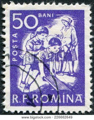 Romania - Circa 1960: A Stamp Printed In The Romania, Depicts Nursery, Circa 1960