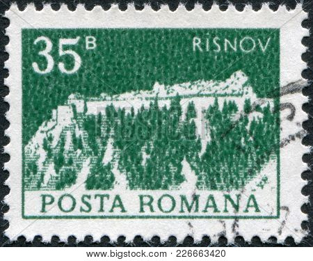 Romania - Circa 1973: A Stamp Printed In The Romania, Depicts Rasnov Citadel, Circa 1973