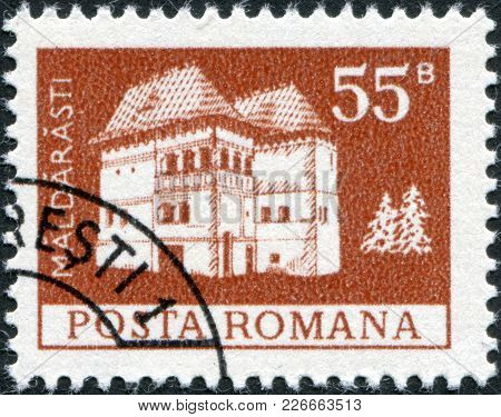 Romania - Circa 1973: A Stamp Printed In The Romania, Depicts Maldaresti Fortress, Circa 1973