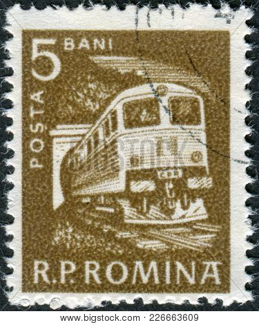 Romania - Circa 1960: A Stamp Printed In The Romania, Shows Diesel Locomotive, Circa 1960