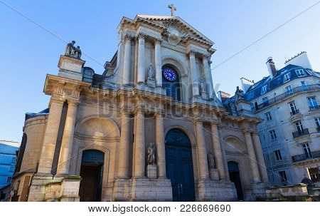 Church Of Saint-roch - A Late Baroque Church In Paris, Dedicated To Saint Roch. Church Of Saint-roch