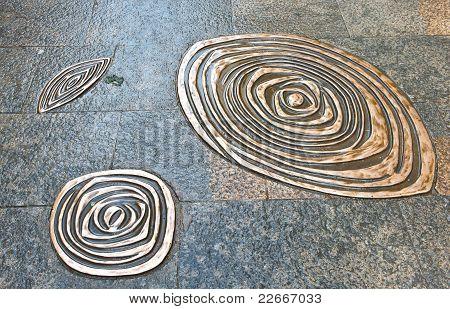 Metallic Flower On The Floor