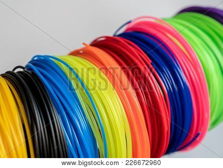color plastic filament for printing on a 3D printer