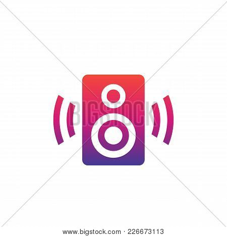 Audio Speaker Vector Icon, Eps 10 File, Easy To Edit