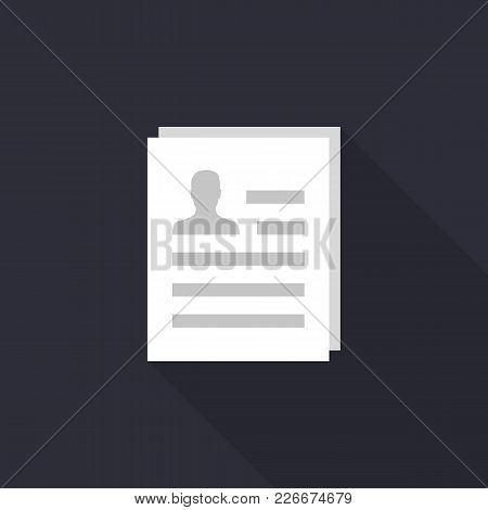 Resume Vector Icon, Eps 10 File, Easy To Edit