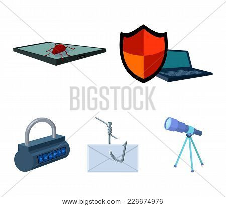 Hacker, System, Connection .hackers And Hacking Set Collection Icons In Cartoon Style Vector Symbol