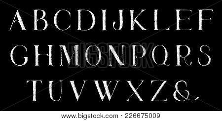 Grunge Full Alphabet. Hand Draw. Vector Letters