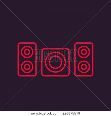 Subwoofer And Speakers Vector Icon, Eps 10 File, Easy To Edit