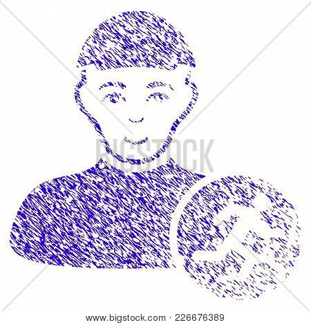 Grunge Running Man Rubber Seal Stamp Watermark. Icon Symbol With Grunge Design And Dust Texture. Unc