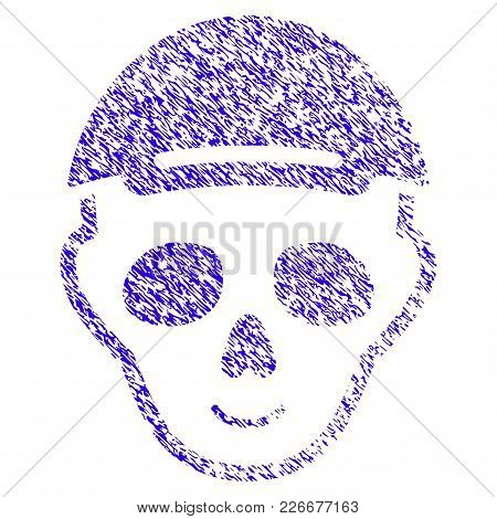 Grunge Skeleton Head Rubber Seal Stamp Watermark. Icon Symbol With Grunge Design And Scratched Textu