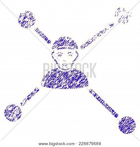 Grunge Person Links Rubber Seal Stamp Watermark. Icon Symbol With Grunge Design And Dust Texture. Un