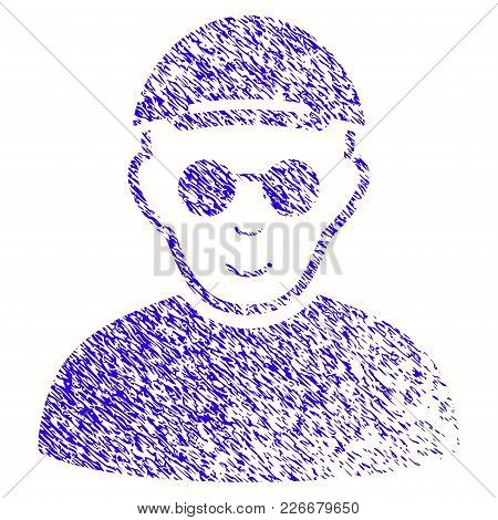 Grunge Blind Man Rubber Seal Stamp Watermark. Icon Symbol With Grunge Design And Dust Texture. Uncle
