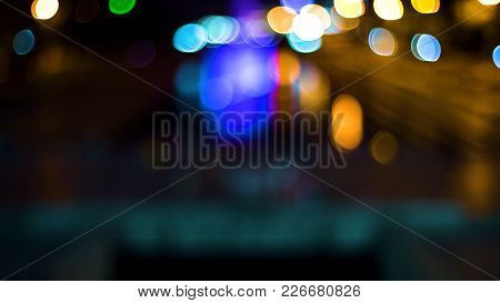 Out Of Focus Background With Blurry Unfocused Lights. Video. Color Blurred Background : Bokeh Lighti