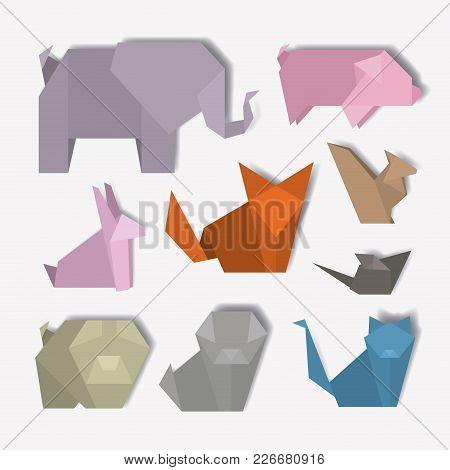 Animal Digital Crafts Set Icons Vector Illustration Design