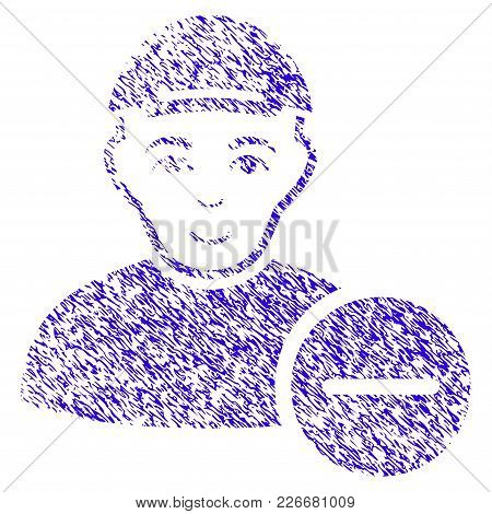 Grunge Delete User Rubber Seal Stamp Watermark. Icon Symbol With Grunge Design And Dust Texture. Unc