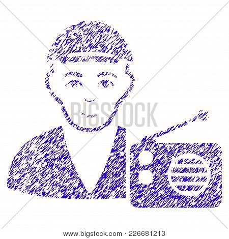 Grunge Radio Dictor Rubber Seal Stamp Watermark. Icon Symbol With Grunge Design And Dirty Texture. U