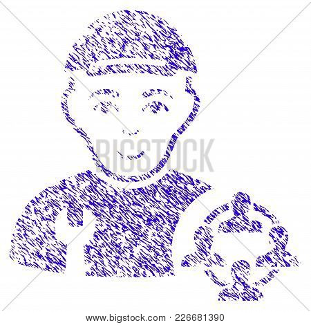 Grunge Social Engineer Rubber Seal Stamp Watermark. Icon Symbol With Grunge Design And Unclean Textu