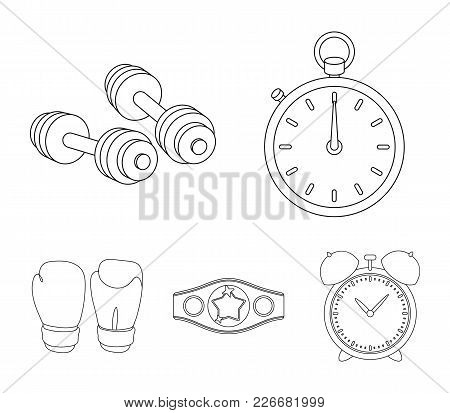 Boxing, Sport, Stopwatch, Watch .boxing Set Collection Icons In Outline Style Vector Symbol Stock Il