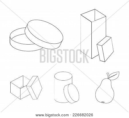 Box, Container, Package, And Other  Icon In Outline Style.case, Shell, Framework, Icons In Set Colle