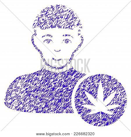 Grunge Cannabis Dealer Rubber Seal Stamp Watermark. Icon Symbol With Grunge Design And Scratched Tex