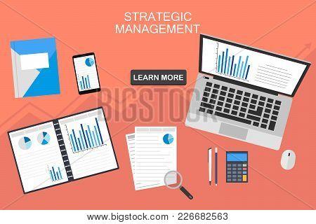 Data Analysis Concept. Financial Audit, Seo Analytics, Statistics, Strategic, Report, Management. Gr