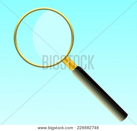 A Magnifying Glass Made Of Gold, To Enlarge Small Objects.