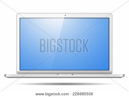 Realistic Laptop, To Present Your Application Design. Isolated On A White Background.