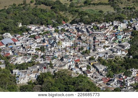 Aerial View Of Alto Lucero, Veracruz, Mexico. Alto Lucero Is Located At 21 Miles Of Xalapa, Capital